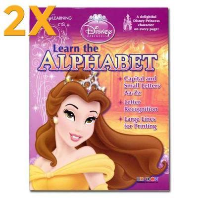 2x Disney Princess Workbook Alphabet