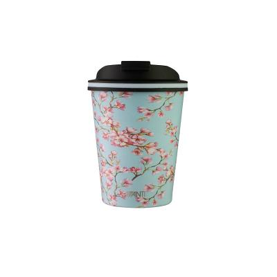 Avanti Go Cup Double Wall Stainless Steel Travel Cup 280ml  - Blossom