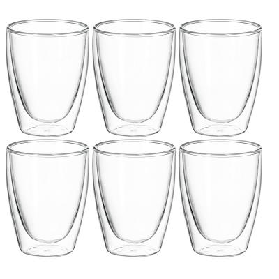 Avanti Caffe 25Oml Twin Wall Glass 6pcs Set