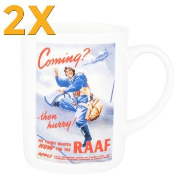 2x Ashdene Classic Wartime Collection Mug - RAAF