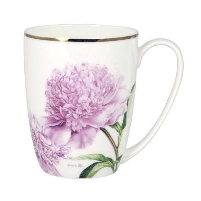 Ashdene Pink Peonies Coupe Mug