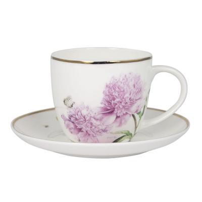 Ashdene  Pink Peonies Teacup & Saucer