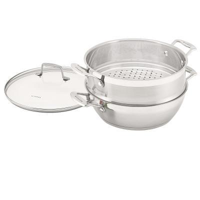 Scanpan Impact Multi-Purpose Fry Stew Braise Saute Steam Pan 28cm | RRP $249