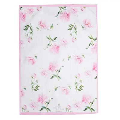 Ashdene Pink Peonies Tea Towel