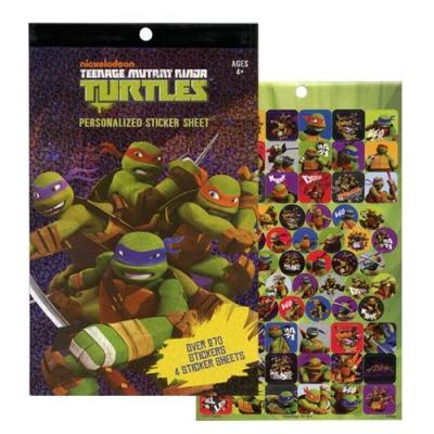 Teenage Mutant Ninja Turtles Sticker Pad 4 Pages TMNT Stickers New Licensed