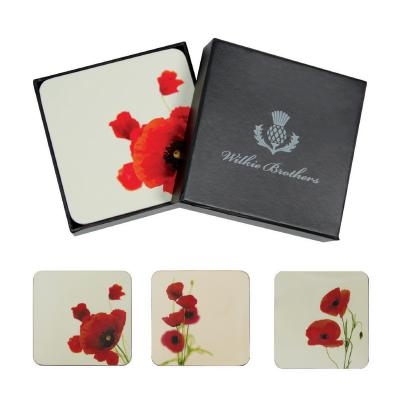 Wilkie Brothers Coasters 6pcs - Poppies