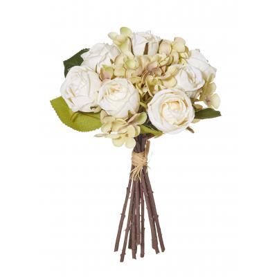 Rogue Rose/Hydrangea Bouquet Champagne 28cm