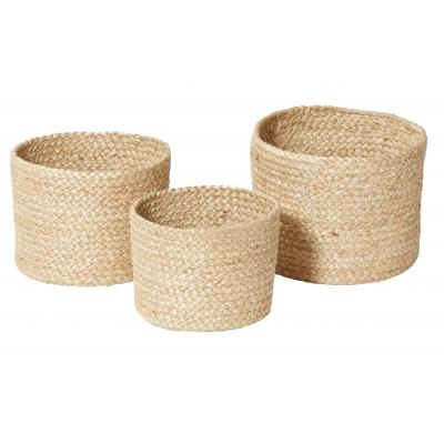 Rogue Anika Basket Set/3 Natural 16cm