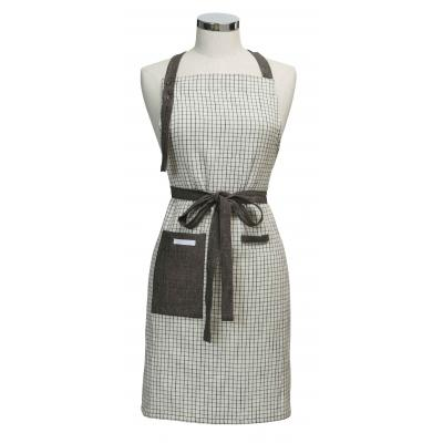 Academy Woolf Grid Print Apron | Made of Cotton and Linen