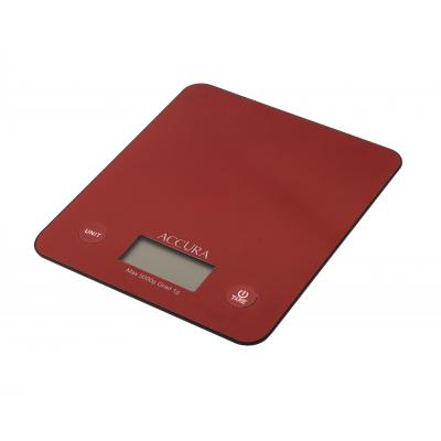 Accura Atlas Electronic Kitchen Scale - Red