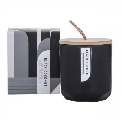 Amalfi Mondo Candle-Black Coconut Fragrance 9cm