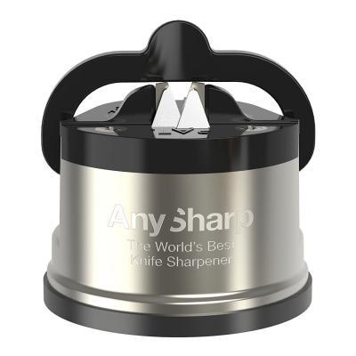 Anysharp Pro Metal Knife Sharpener -  Gunmetal Grey/Black