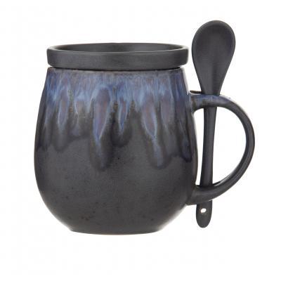 Amalfi Aikido Reactive Hug Mug Set 3pce - Reactive Blue