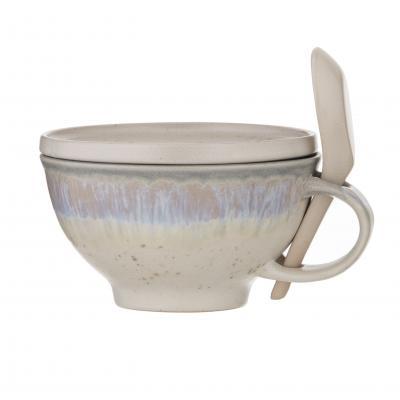 Amalfi Aikido Reactive Soup Mug Set 3pce - Reactive White