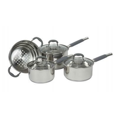 4pc Davis & Waddell Essentials Argon Cookware Saucepan/Steamer Set w/ Glass Lids