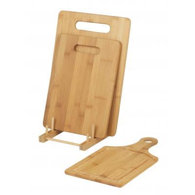 Davis & Waddell 3pc Bamboo Cutting/Chopping Board w/ Stand Kitchen Preparation