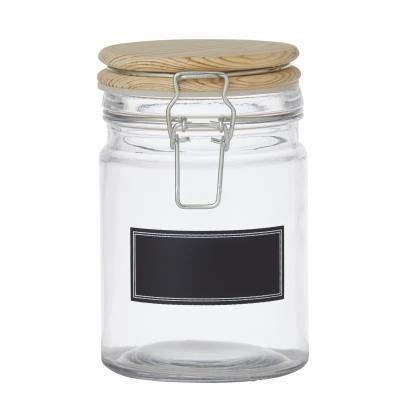 Davis & Waddell Glass Clip Top Canister with Blackboard Label