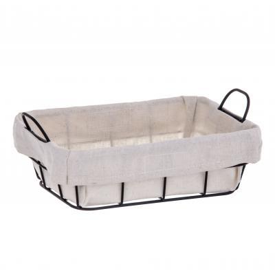 Davis & Waddell Taste Fine Foods Lined Bread Basket | 22.5x14.5x8.5cm