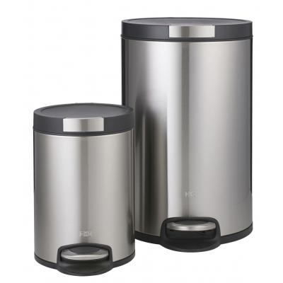 EKO Artistic Step Can Set 2pce - Stainless Steel/Black - 5L/20L