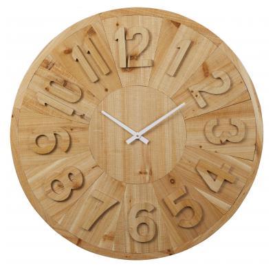 Amalfi Sienna Wall Clock 80x80cm | Natural