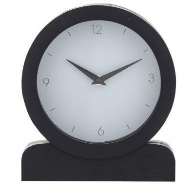 Amalfi Presley 23x20cm Analogue Mantel/Desk/Shelf Clock Home Decor Black/Grey