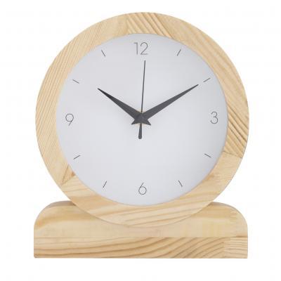 Amalfi Presley 23x20cm Analogue Mantel/Desk/Shelf Clock Home Decor White/Natural