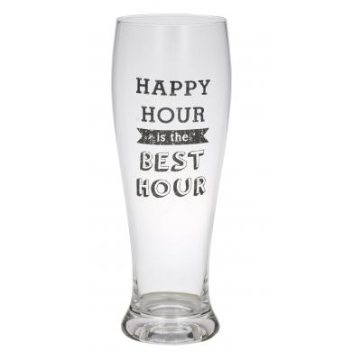Giftworks Happy Hour Beer Glass