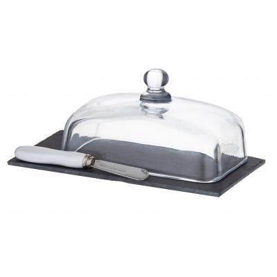 3pc Davis & Waddell Taste Fine Foods Butter Dish/Knife/Storage/Container Set