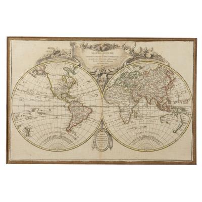 Amalfi Atlas World Map Wall Décor