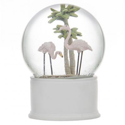 Emporium Flamingo Snow Globe