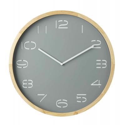 Amalfi Leni Analogue Pine Wood/Glass Wall Clock 41.5x5x41.5cm | Grey