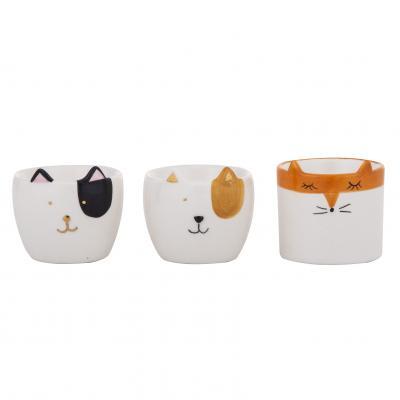 Emporium Animals Egg Cups 3 Asst Designs