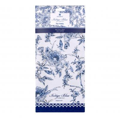 Ashdene Indigo Blue Hummingbird Tea Towel