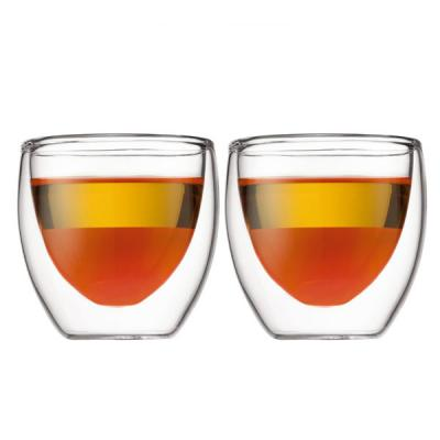 Bodum Pavina Insulated Double Wall Thermo Glasses 80ml | Set of 2 Tumblers