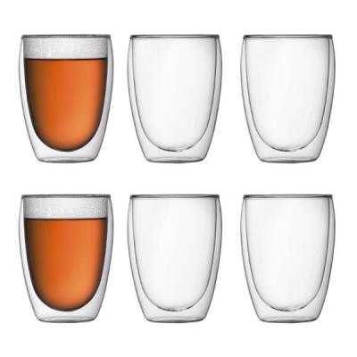 Bodum Pavina Insulated Double Wall Thermo Glasses 350ml | Set of 6 Tumblers