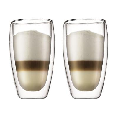 Bodum Pavina Insulated Double Wall Thermo Glasses 450ml | Set of 2 Tumblers