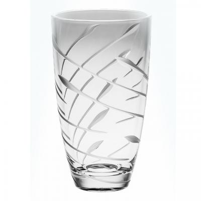 Bohemia Crystal Flow Barrel Vase 30cm