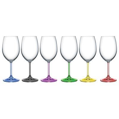 Bohemia Crystal Rainbow multi-coloured Wine Glasses 350ml / 6pcs