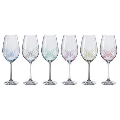 Bohemia Crystal Ellipse Wine Glasses 350ml 6pcs