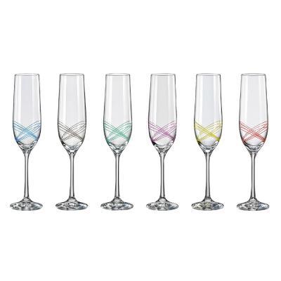 Bohemia Crystal Ellipse Champagne Flute 190ml 6pcs