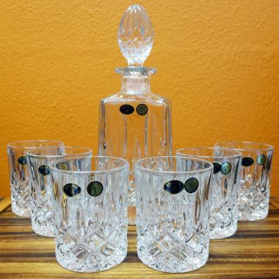 Bohemia Crystal Sheffield 7pcs Whiskey Decanter Set