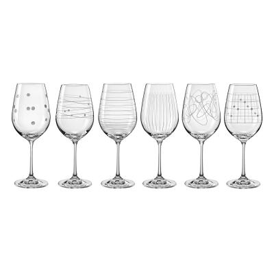 Bohemia Crystal Elements Wine Goblet 450ml Mixed/6pc