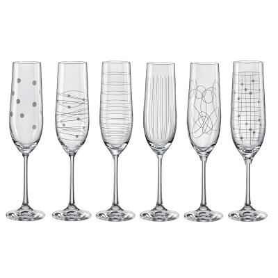 Bohemia Crystal Elements Flute 190ml Mixed/6pc