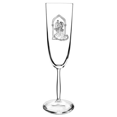 Bohemia Crystal Bride & Groom Wedding 180ML Flute