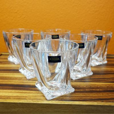 Bohemia Crystal Quadro Old Fashion Tumbler Set 6pcs