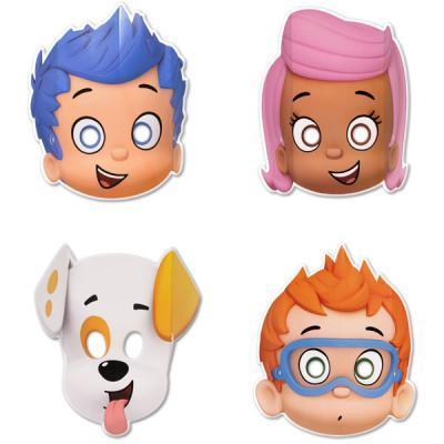 Bubble Guppies Masks 8 Pack Party Paper Masks Party Favours