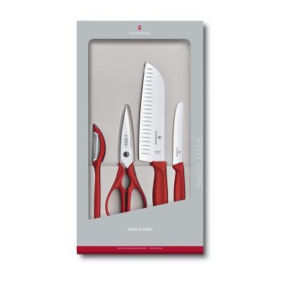 Victorinox Swiss Classic Kitchen Set, 4 pieces - RED  6.7131.4G