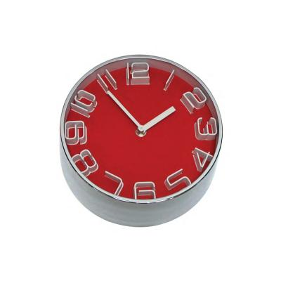 Clocks Premium 22cm Red Contrast Clock