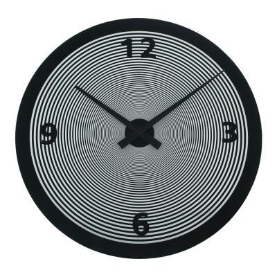 Degree Spin Black Glass Clock 50cm