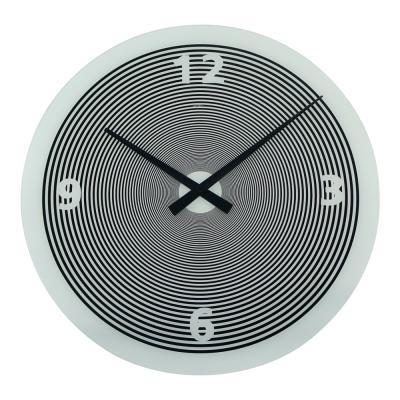 Degree Spin White Glass Clock 50cm